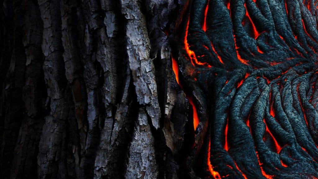 Dunkler Lava