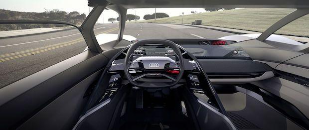 Audi PB18 e-tron Cockpit Skizze