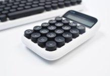 Lofree Digit Calculator Taschenrechner in Weiss