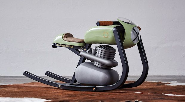 Monza Moto Rocker in Grün