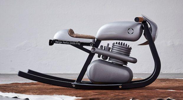 Monza Moto Rocker in Silber