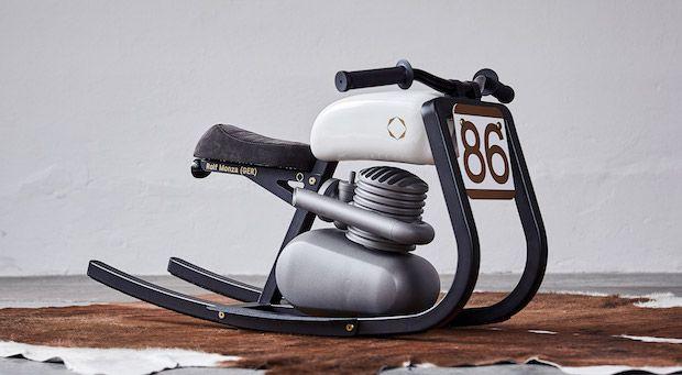 Monza Moto Rocker in Weiss