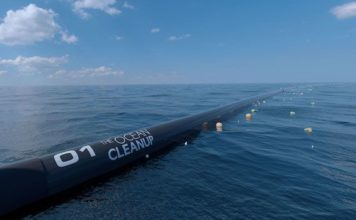 The Ocean Cleanup im Betrieb