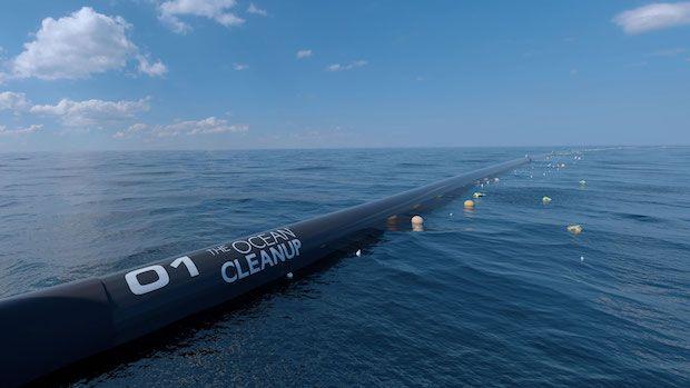 The Ocean Cleanup im Betrieb