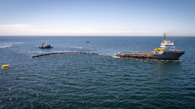 The Ocean Cleanup - Nordsee Prototyp