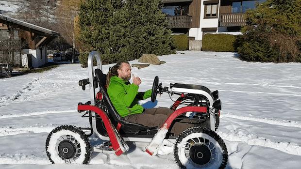 Swincar E-Spider im Schnee