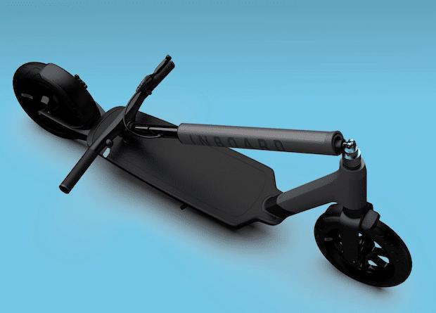 the glider inboard elektroscooter zusammen geklappt