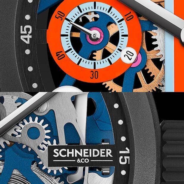 Le Mans Uhr Details von Schneider&Co