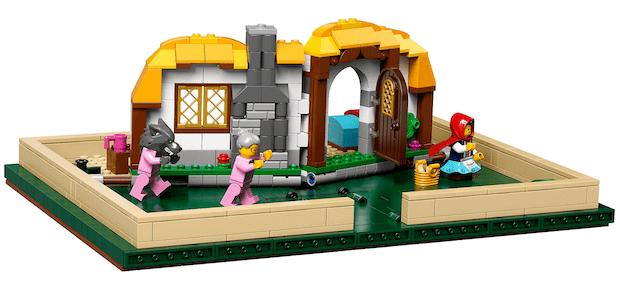 Lego Ideas Pop-Up Buch Märchen aufgeklappt