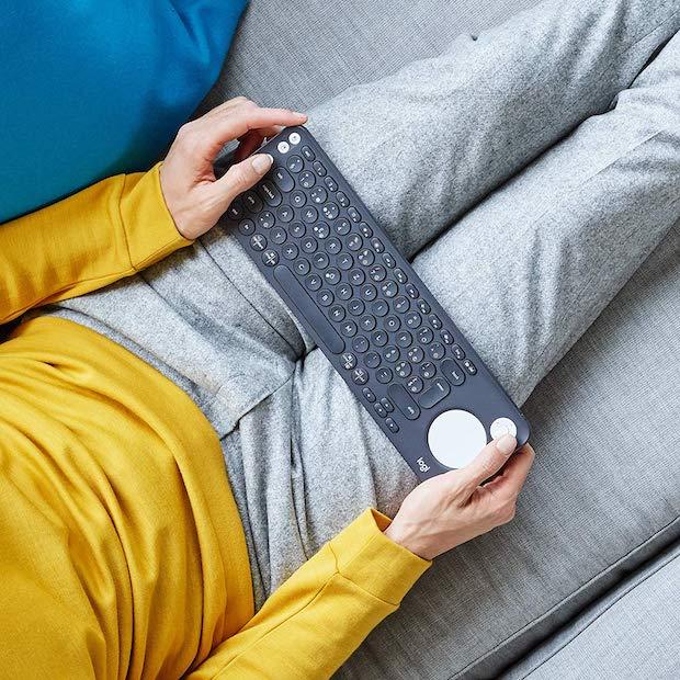 Logitech K600 TV Tastatur Größe