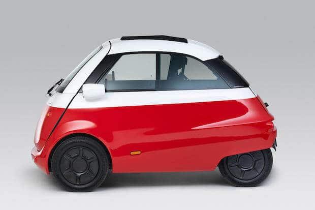 Microlino Stadtauto Seitenansicht