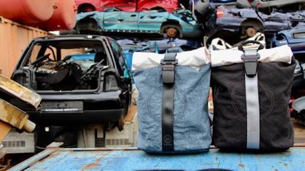 Airpaq Rucksack aus Autoschrott