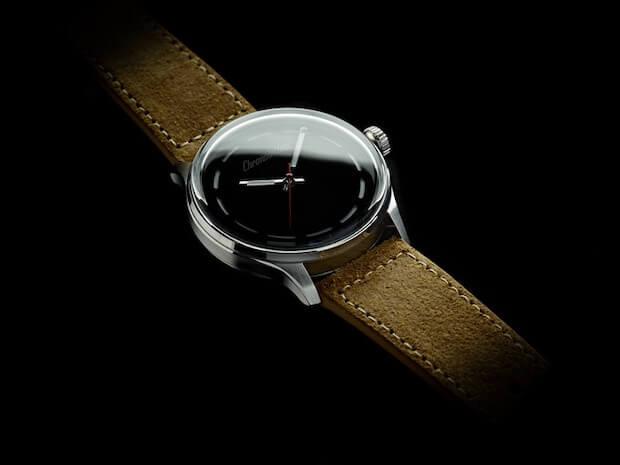 Chronotechna Uhr mit schwärzesten Zeitanzeiger