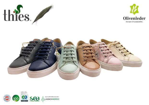 thies Sneakerline aus Olivenleder