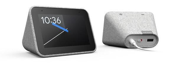 Lenovo Smart Clock - Vorder- und Rückseite