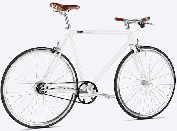 mika amaro Urban Bike Pearly White Riemenantrieb