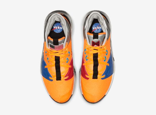 Nike PG 3 NASA Sneaker von oben