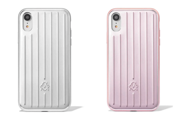 RIMOWA Aluminium Groove iPhone Case in Silber und Metallicrosé