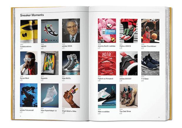 """Beispielseite aus dem """"Ultimate Sneaker Book"""""""