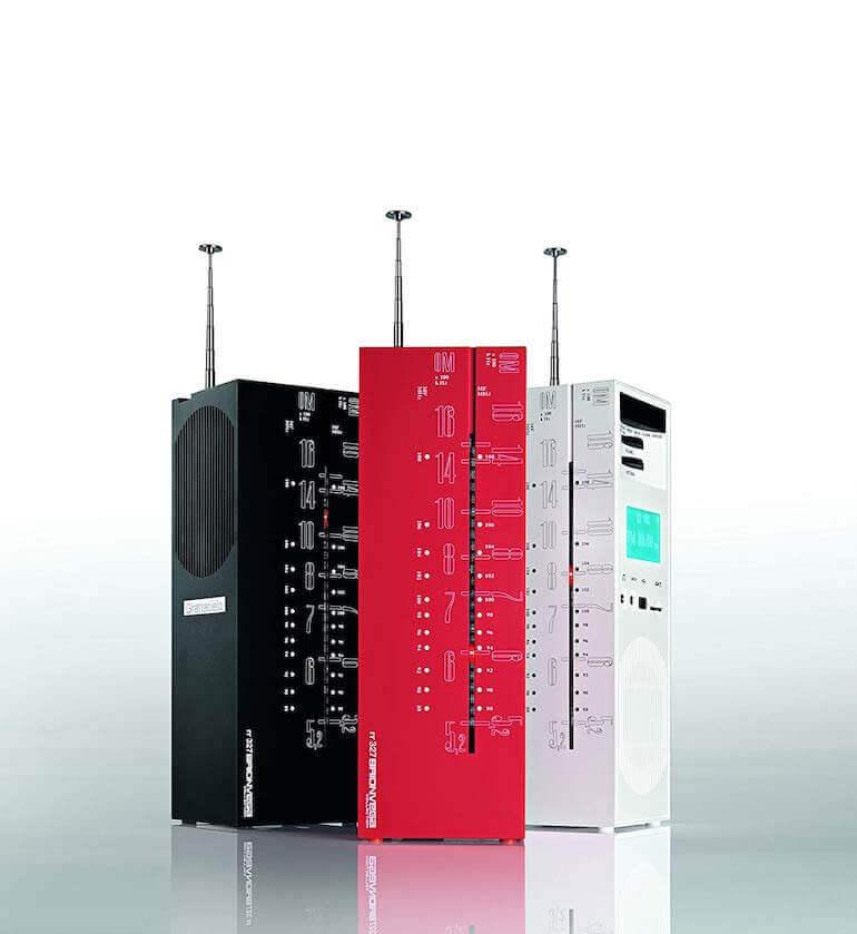 Radio GRATTACIELO RR327 - Schwarz, Rot und Weiss