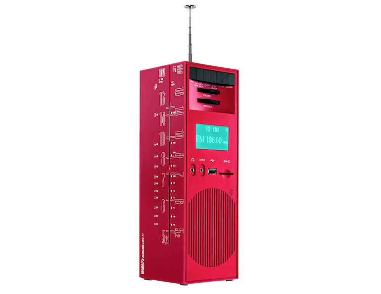 Radio GRATTACIELO RR327 in Rot