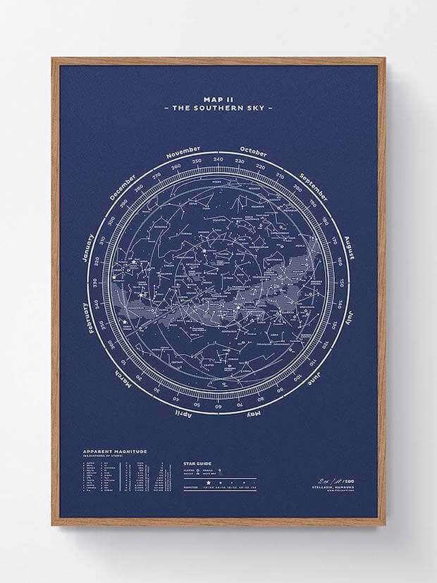 Stellavia Map 2 - Südliche Hemisphäre