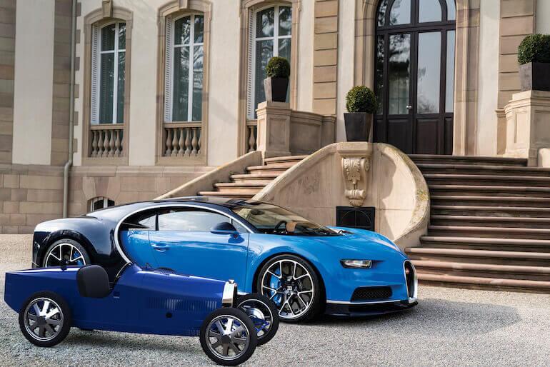 Bugatti Baby II und ein Chiron