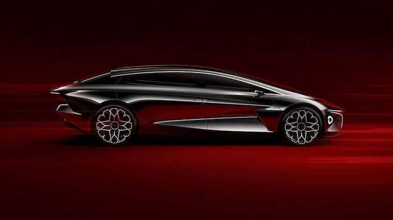 Lagonda Elektroauto - Seitenansicht
