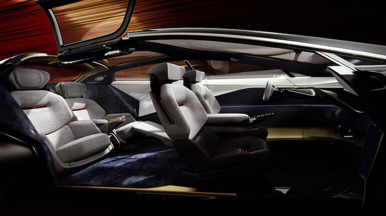 Lagonda Elektroauto - Innenraum