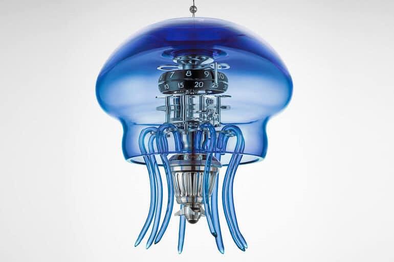 Medusa Uhr in Blau