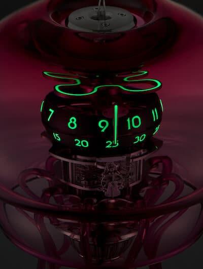 Medusa Zeitanzeige in der Nacht