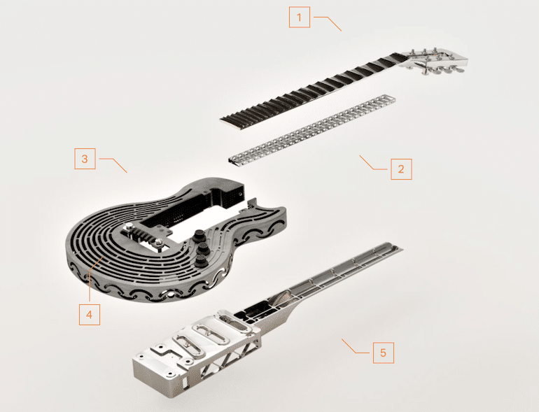 Smash-Proof Guitar Einzelteile