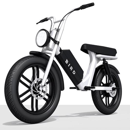 Bird E-Bike auf dicken Reifen