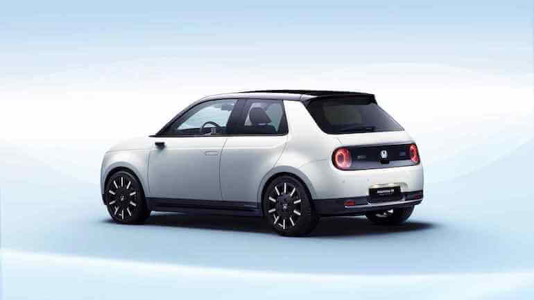 Elektroauto Honda-e in Weiss