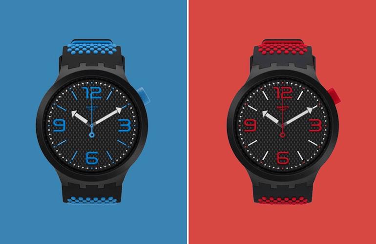 Big Bold in Blau und Rot