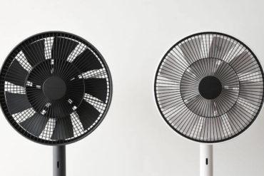The GreenFan Ventilator in Schwarz und Weiss
