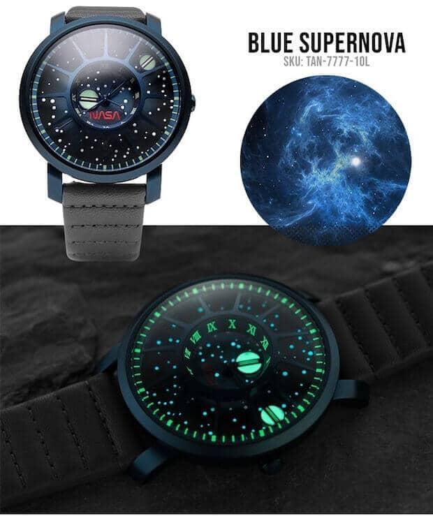 NASA Uhr - Blue Supernova
