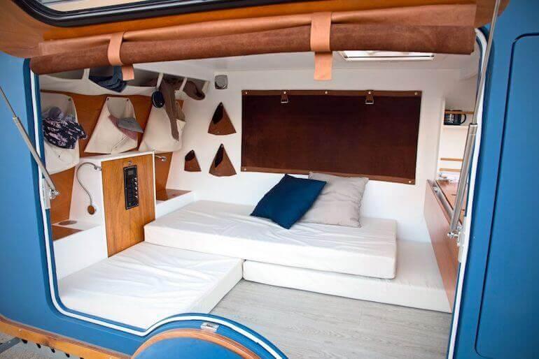 Innenraum des Mini Wohnwagens