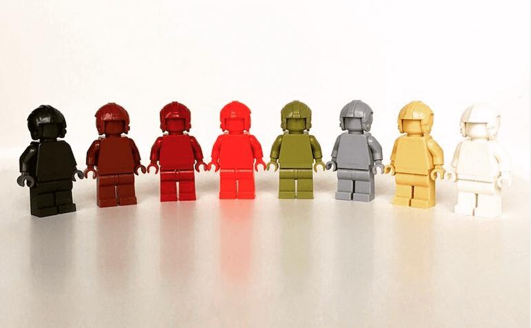 MONOFIGS - einfarbige Lego Figuren