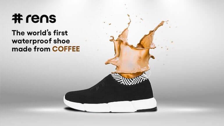 Rens - wasserdichte Sneaker aus Kaffee