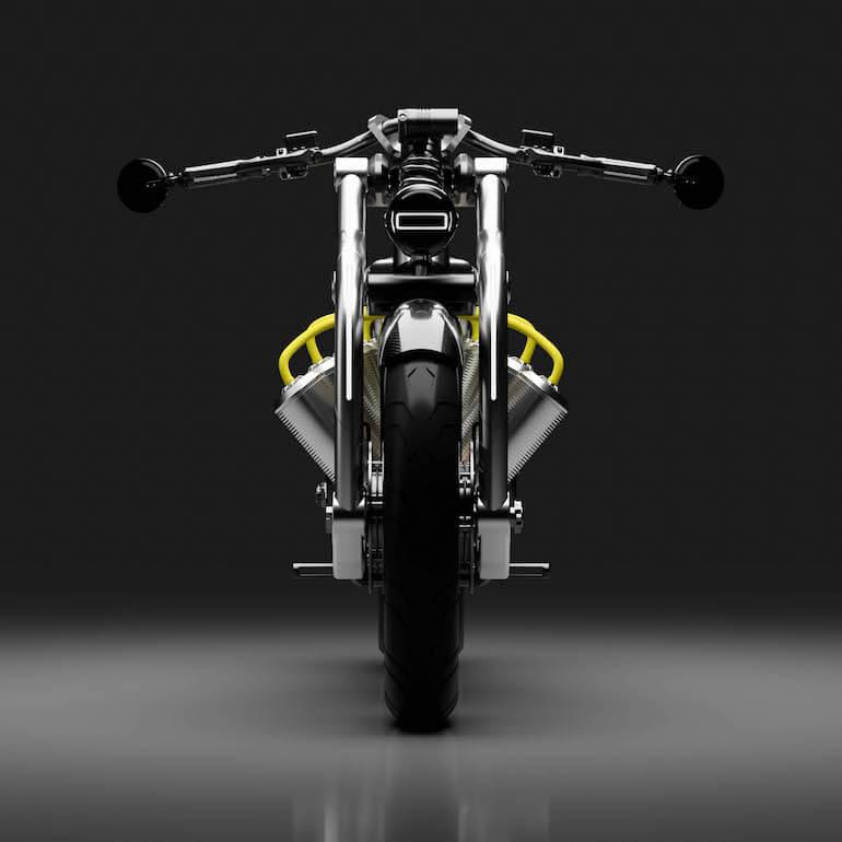 Zeus Elektromotorrad - Vorderansicht