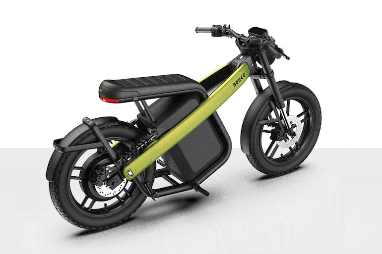 BREKR Model B E-Moped Green