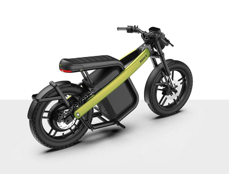 BREKR Model B E-Moped Green
