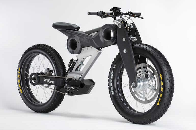 Moto Parilla E-Bike - Carbon Nero