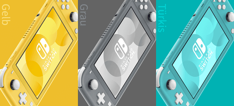 Switch Lite in 3 Farben