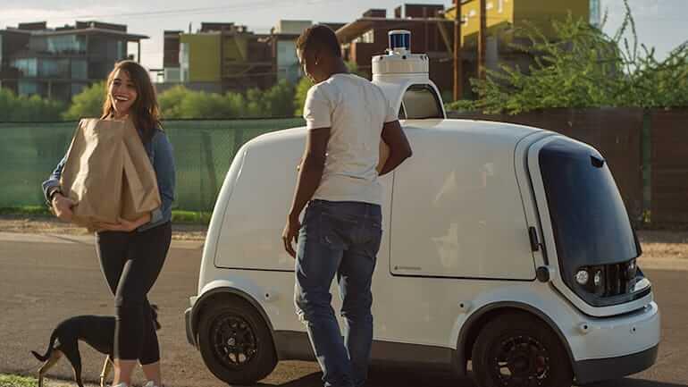 Self-driving E-Transporter von Nuro