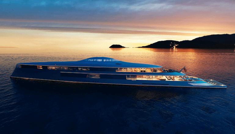 Seitenansicht der Aqua Yacht