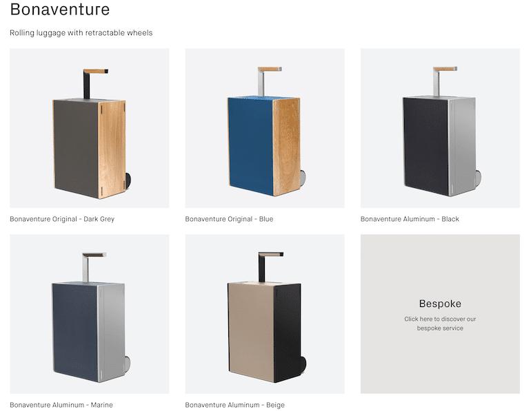 Bonaventure Koffer-Farben von Charles Simon
