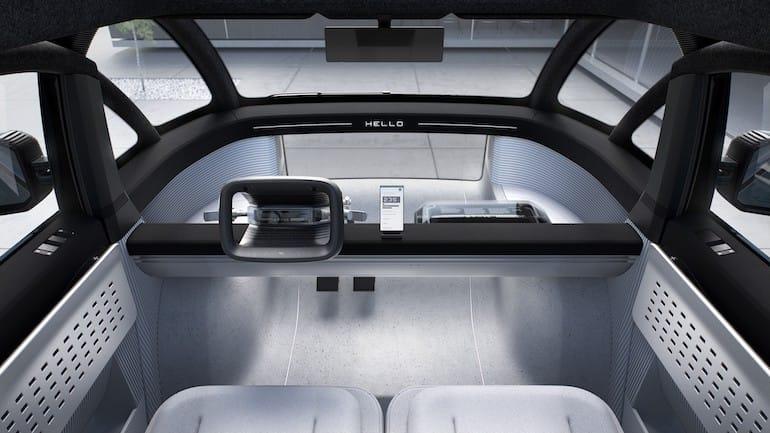 Canoo E-auto Cockpit