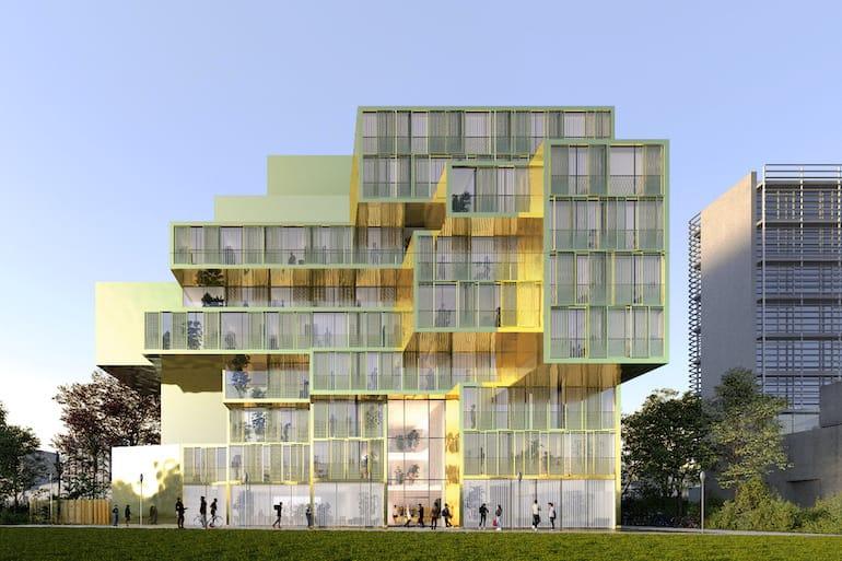 GOLDEN CITY Haus - Seitenansicht